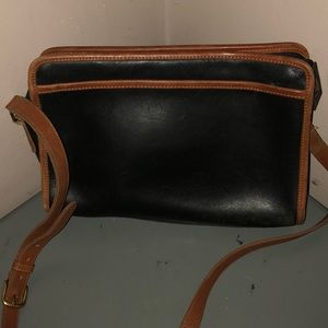 Coach vintage leather black brown purse bag 5019